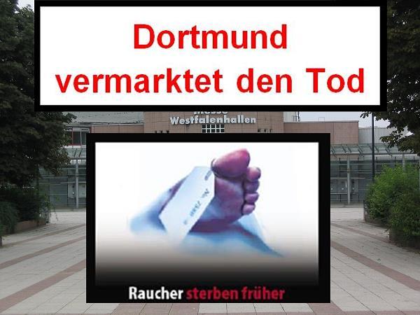 Aufruf zur Teilnahme an Protestkundgebung am Samstag 17.09. ab 10 Uhr :  Dortmund vermarktet den Tod