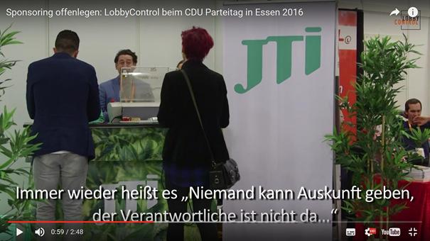 JTI als Sponsor des Bundesparteitages der CDU