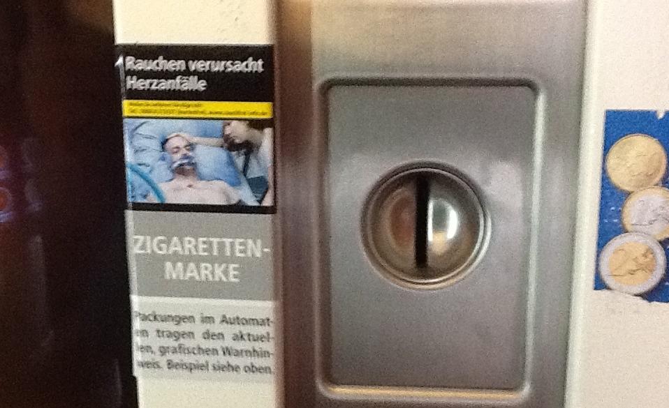 Nothilfe für Zigarettenautomaten