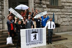 Herzliche Glückwünsche für Berlin Werbefrei