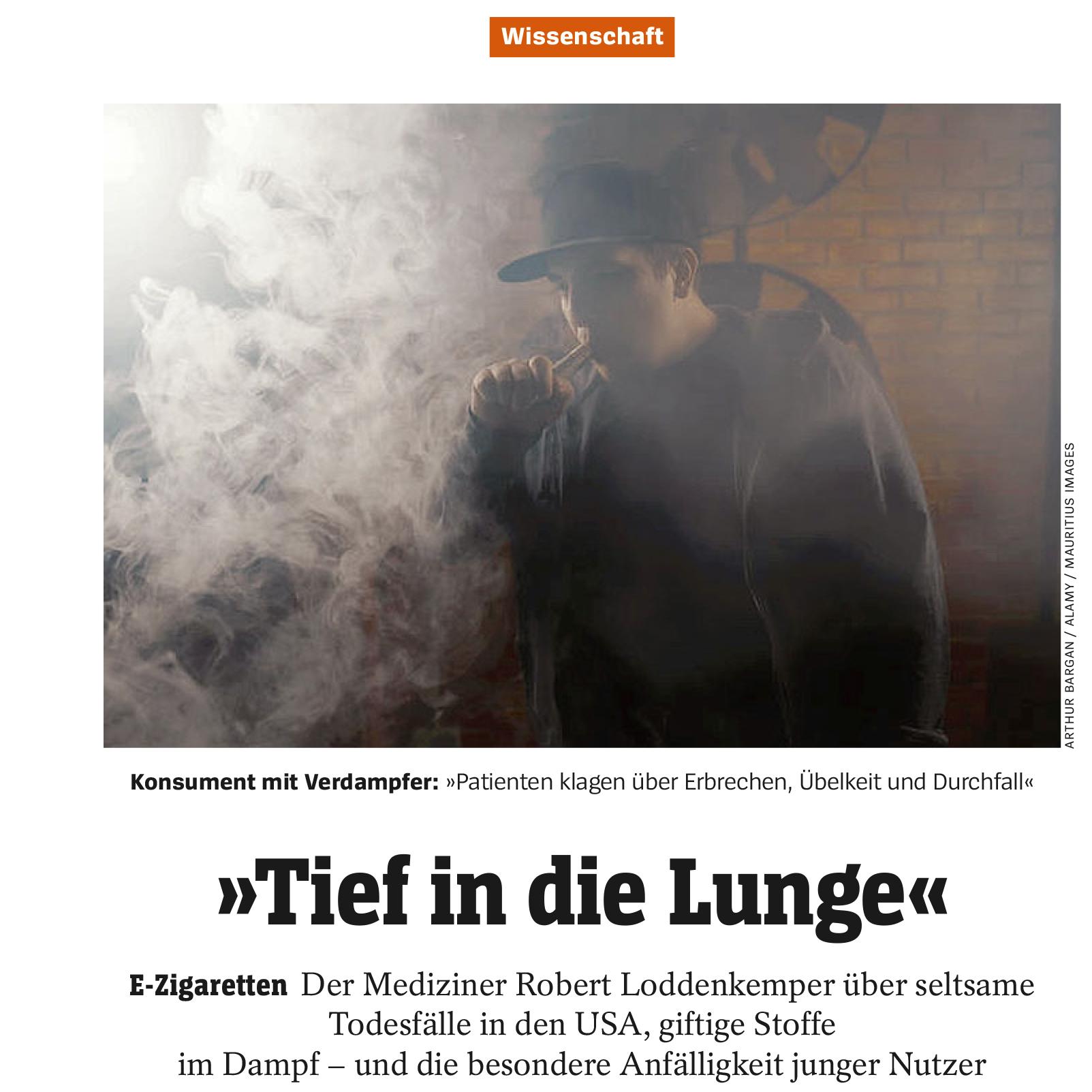 »Tief in die Lunge« (Der Spiegel )