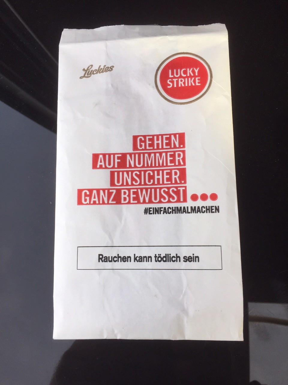 Lucky Strike irgendwo in Süddeutschland